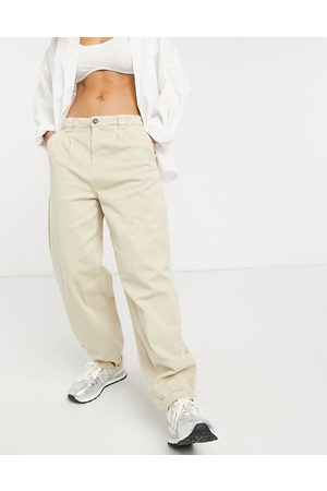 Noisy May Slouchy chinos in beige