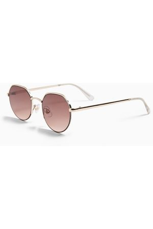 Topshop Round sunglasses in gold