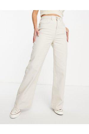 Cotton On Cotton: On high-rise wide-legged jean in ecru-Cream