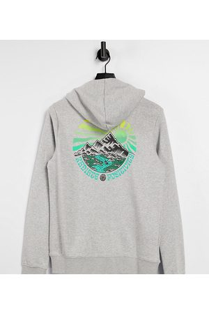 Element Balmore hoodie in grey Exclusive to ASOS
