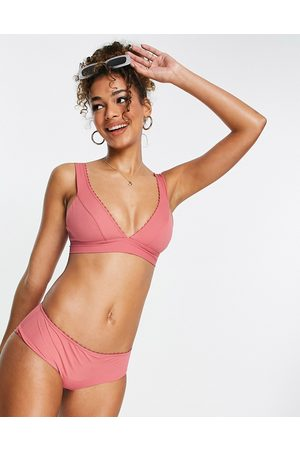 & OTHER STORIES & recycled high-waist bikini bottoms in dusty pink