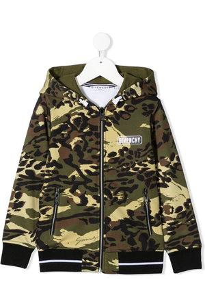 Givenchy Boys Hoodies - Camouflage-print hoodie