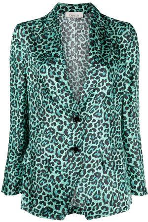 LANEUS Leopard-print blazer