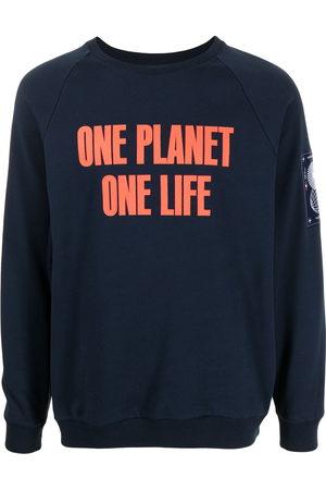 """Ports V Sweatshirts - """"ONE PLANET ONE LIFE"""" logo-print sweatshirt"""