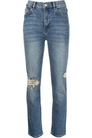 Reformation High-rise distressed jeans