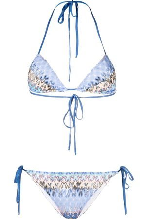 Missoni Patterned knit bikini set