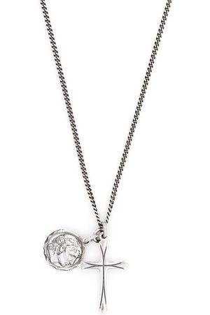 EMANUELE BICOCCHI Coin cross pendant necklace