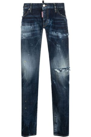 Dsquared2 Paint splatter skinny jeans