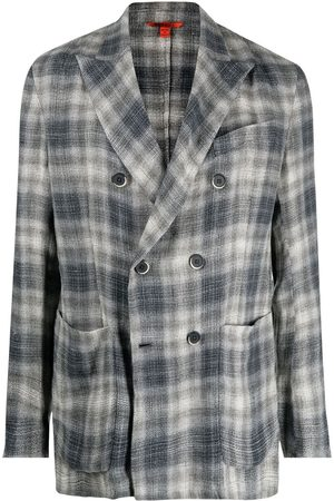BARENA Checked double-breasted blazer