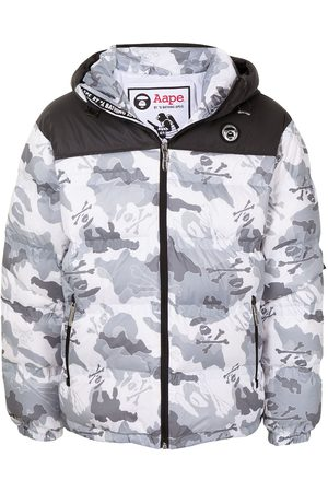 AAPE BY A BATHING APE Camouflage-print padded jacket