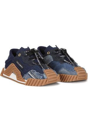 Dolce & Gabbana Girls Sneakers - Denim-panelled sneakers