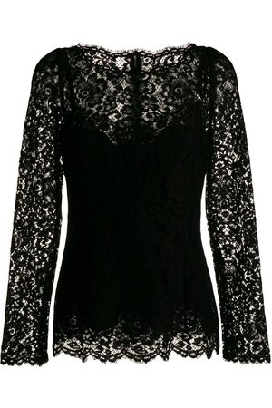 Dolce & Gabbana Women Blouses - Long-sleeved lace blouse