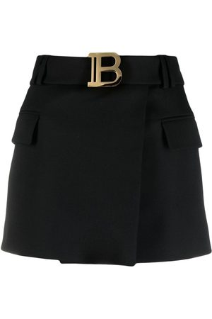 Balmain Women Skirts - B-logo wrap skirt