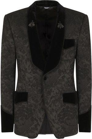 Dolce & Gabbana Men Blazers - Floral jacquard single-breasted blazer