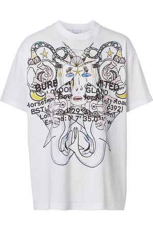 Burberry Men Short Sleeve - Montage-print cotton T-shirt