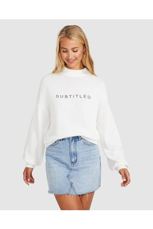 Subtitled Embroidered Knit Jumper