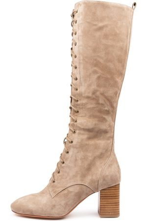 Mollini Stelsy Mo Taupe Boots Womens Shoes Casual Long Boots