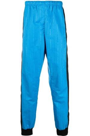 Marine Serre Men Formal Pants - Colour-block elasticated trousers