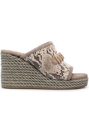 Mou Snakeskin-effect wedge sandals