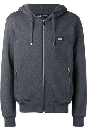 Dolce & Gabbana Men Hoodies - Drawstring zip hoodie