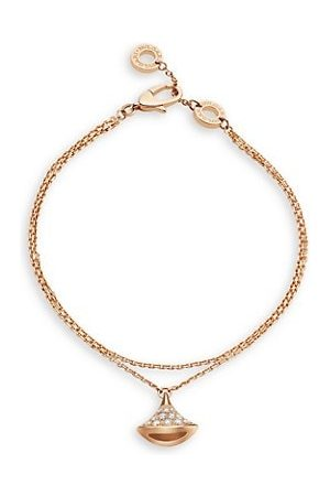 Bvlgari Divas' Dream 18K & Diamond Pendant Double-Strand Bracelet