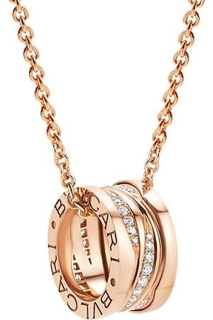 Bvlgari Necklaces - B.zero1 Design Legend 18K Rose Gold & Diamond Pendant Necklace