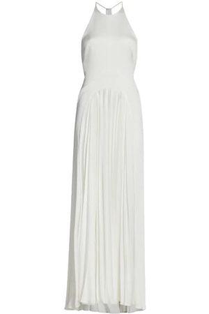 GALVAN Women Halterneck Dresses - Provence Halterneck Textured Crepe Gown
