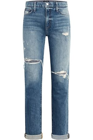 Joes Jeans Women Straight - The Scout Distressed Double Roll Jeans