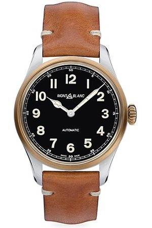 Mont Blanc 1858 1858 Automatic Leather-Strap Watch