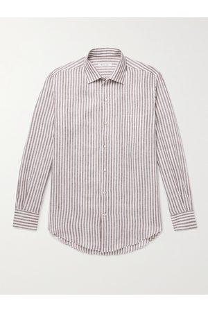 Loro Piana Men Business - Striped Linen Shirt