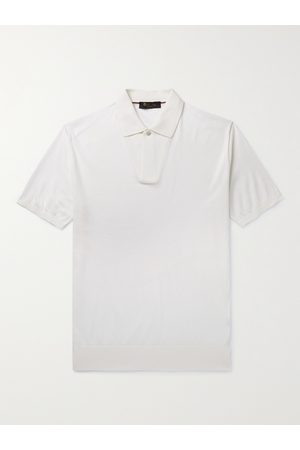 Loro Piana Slim-Fit Cotton and Silk-Blend Polo Shirt