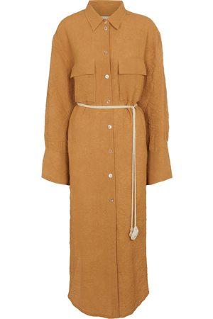 Nanushka Women Casual Dresses - Fruma crinkled sateen shirt dress