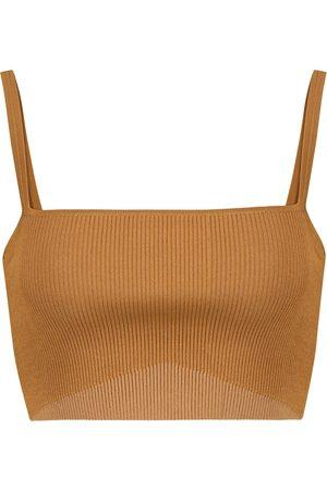 SIR Women Crop Tops - Jasper ribbed-knit crop top