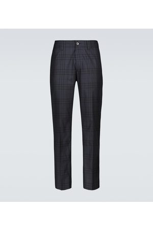 Burberry Men Pants - Checked casual pants