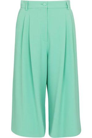 Dolce & Gabbana High-rise stretch-cady Bermuda shorts