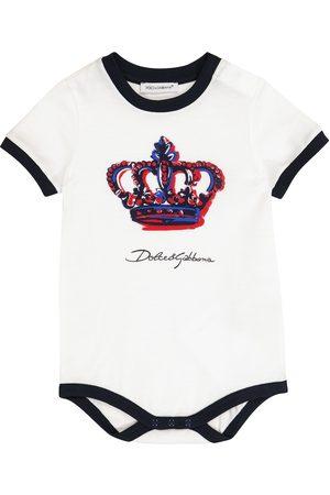 Dolce & Gabbana Baby cotton playsuit