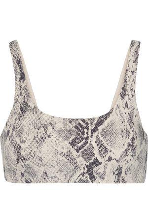 alo Women Sports Bras - Vapor snake-effect sports bra
