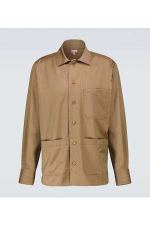 CARUSO Men Shirts - Woven wool overshirt