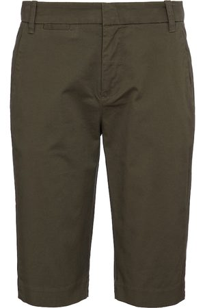 Vince Women Bermudas - Mid-rise cotton Bermuda shorts
