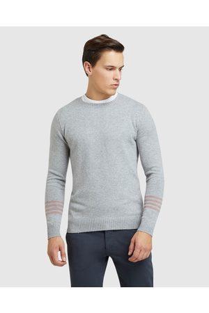Oxford Hartley Contrast Stripe Knit - Crew Necks Hartley Contrast Stripe Knit