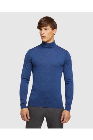 Oxford Men Hoodies - Aaron Turtle Neck Pure Wool Knit - Sweats & Hoodies Aaron Turtle Neck Pure Wool Knit