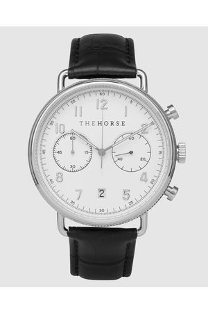 The Horse The Chronograph - Watches (Polished Steel / Dial / Croc Leather) The Chronograph