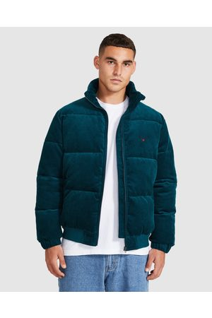 Spencer Project Men Winter Jackets - Cord Puffer Jacket Forest