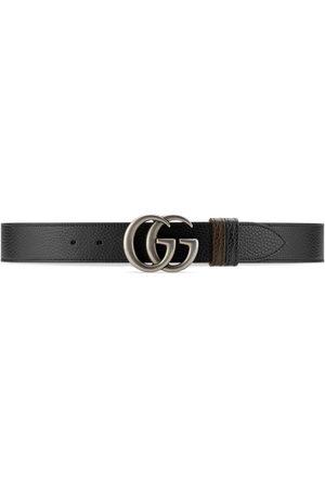 Gucci Men Belts - GG Marmont reversible wide belt