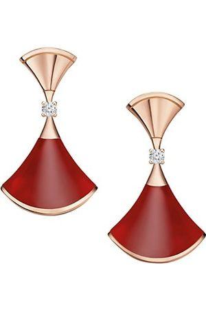 Bvlgari Earrings - Divas' Dream 18K Earrings, Carnelian & Diamond Earrings