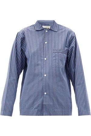 Tekla Striped Organic-cotton Pyjama Shirt - Womens - Stripe
