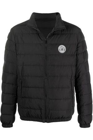VERSACE Men Winter Jackets - Logo patch padded jacket