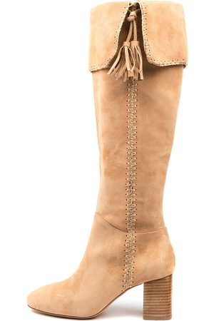 Mollini Soprairie Mo Sand Boots Womens Shoes Casual Long Boots