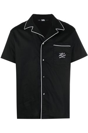 Karl Lagerfeld Contrast-trim pyjama shirt