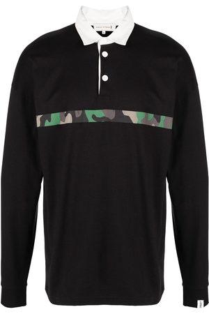MACKINTOSH Men Sweatshirts - Horizontal-stripe rugby sweatshirt
